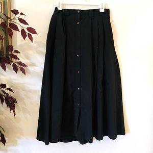 Twill button up skirt
